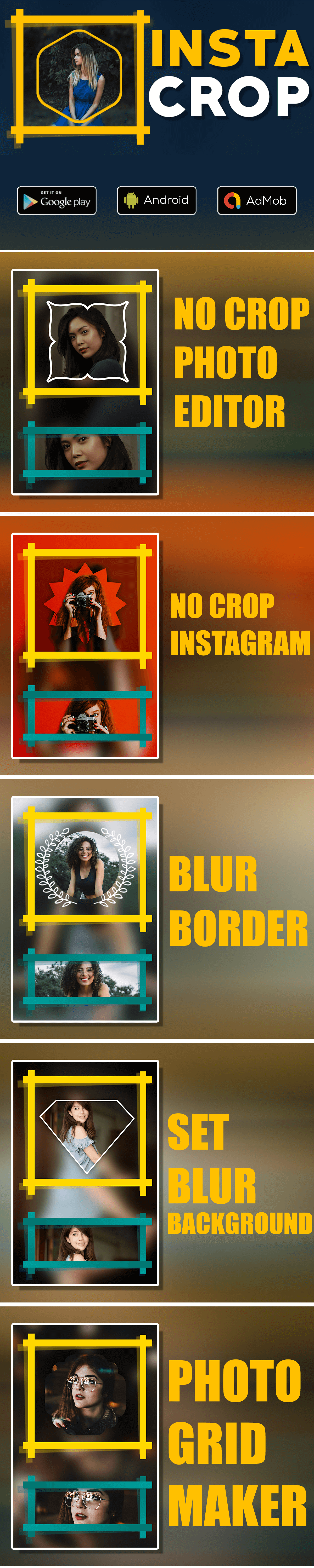 No Crop & Square for Instagram   Android App - 1 No Crop & Square for Instagram   Android App Nulled Free Download No Crop & Square for Instagram   Android App Nulled Free Download intro1