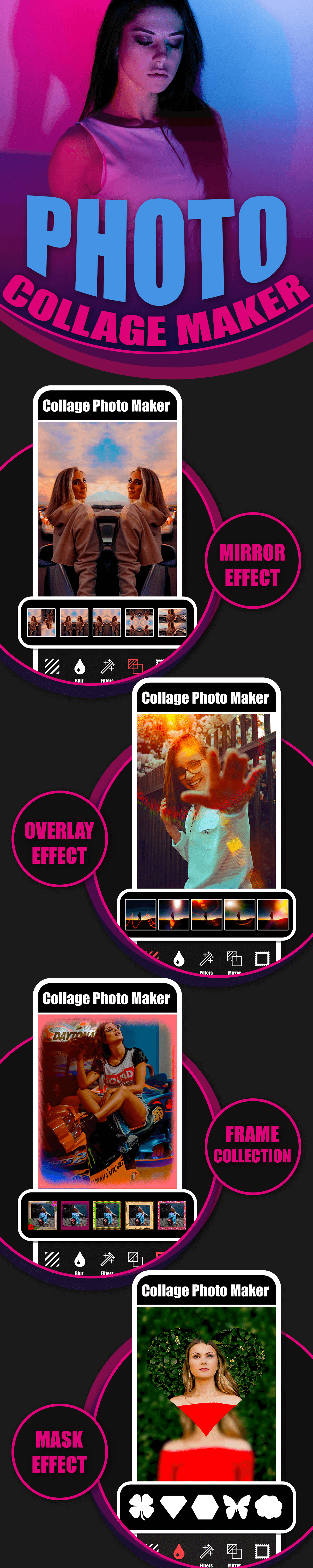 New Photo Collage Editor & Collage Pro Android App with Admob Ads Full Code, Guide - 1