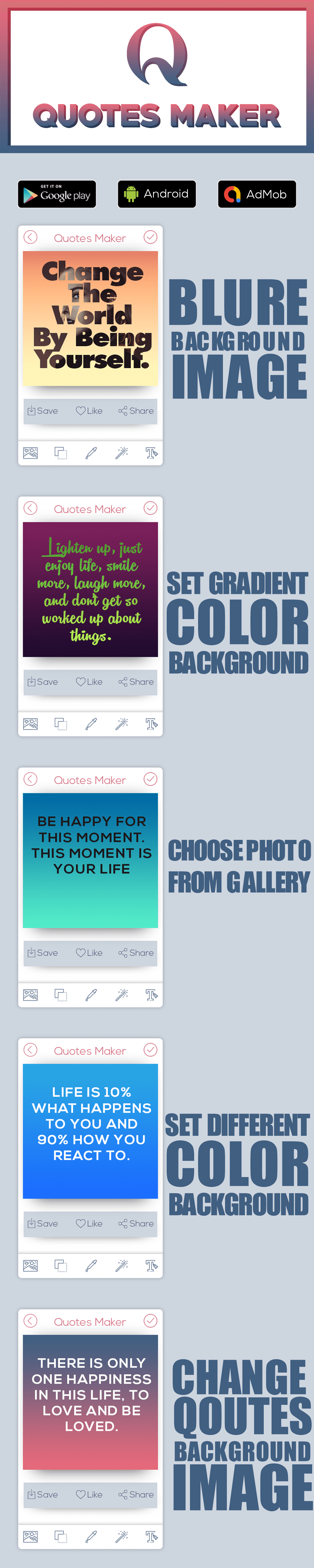 Picture Quotes and Creator |  Quote Maker | Android Ads - 1